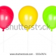 Stock Photo Blue Happy Air Flying Balloon Isolated On White