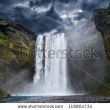 Stock Photo Breathtaking Waterfall In Iceland 119804734