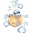Stock Photo Fruits In Ice Cubes Isolated 82338100